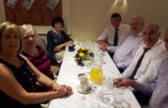 Enjoying the atmosphere at President's Day dinner