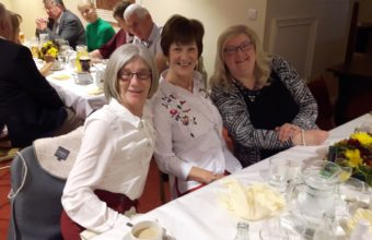 Lady Captain Hazel with Mary & Valerie