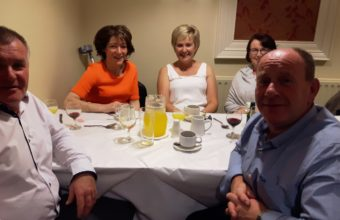 Eamon, Peter and their lovely ladies