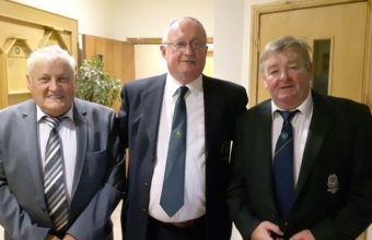 President Everett with President of Aughnacloy Golf Club, Felix Treanor and guest