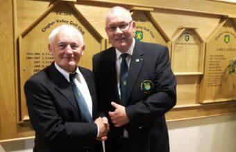 Captain Andy congratulates winner Norman Kerr