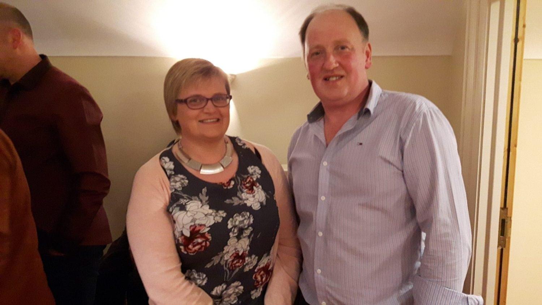 Charlie Keys with wife Amanda